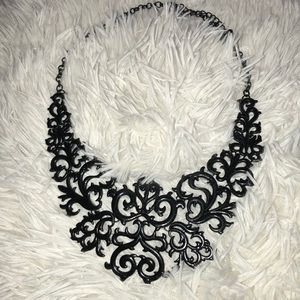Accessories - Damask statement necklace.